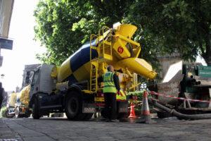 SMC Concrete Trucks Completing Project