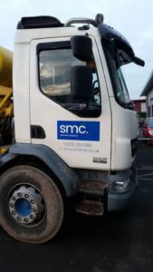 SMC Concrete Truck Carrying Out Job